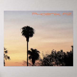 Poster Affiche de coucher du soleil de Phoenix