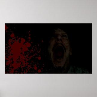 Poster Affiche de cri perçant de sang