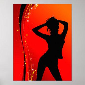 Poster Affiche de danseur de disco
