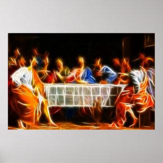 Poster Affiche de dernier dîner de Jésus-Christ