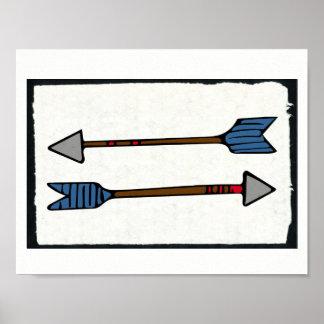 Poster Affiche de dessin de flèche