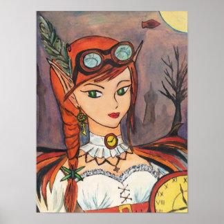Poster Affiche de fée de Steampunk