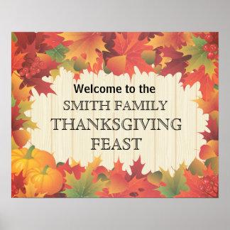 Poster Affiche de festin de famille