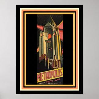 Poster Affiche de film de métropole 12 x 16