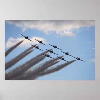 Poster Affiche de formation d'avions