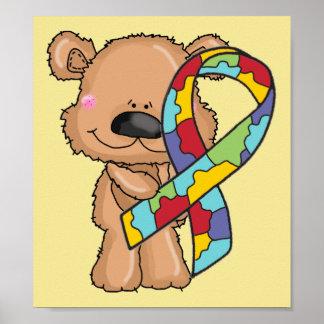 Poster Affiche de jaune d'ours de ruban de