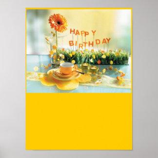 Poster Affiche de joyeux anniversaire
