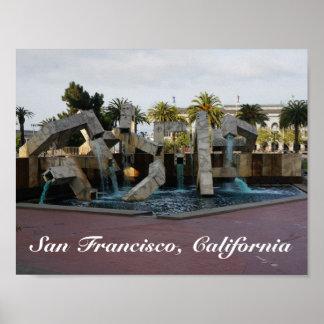 Poster Affiche de la fontaine #2 de San Francisco