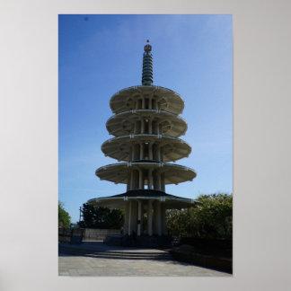 Poster Affiche de la pagoda #3 de paix de San Francisco