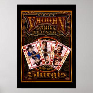 Poster Affiche de la Réunion de Vaughn de famille