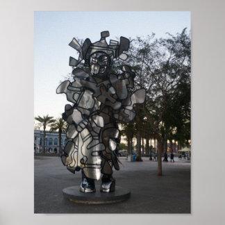 Poster Affiche de la sculpture #2 de San Francisco