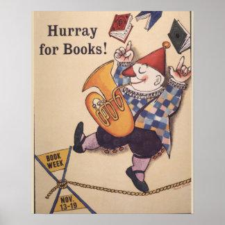 Poster Affiche de la semaine du livre de 1960 enfants
