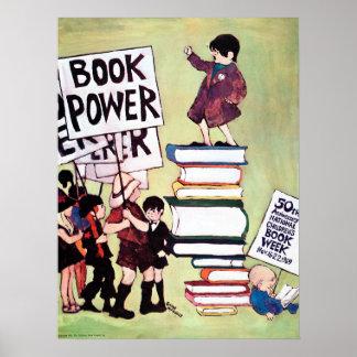 Poster Affiche de la semaine du livre de 1969 enfants