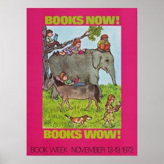Poster Affiche de la semaine du livre de 1972 enfants