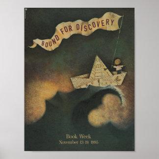Poster Affiche de la semaine du livre de 1995 enfants