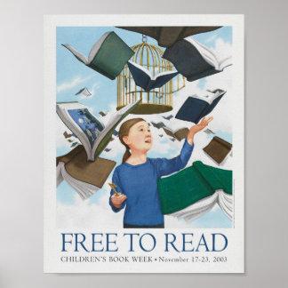 Poster Affiche de la semaine du livre de 2003 enfants