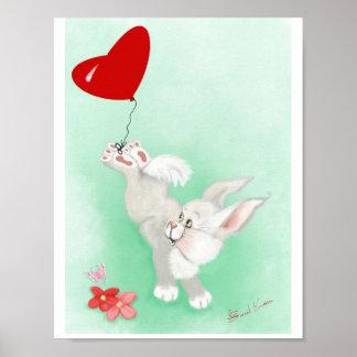 Poster Affiche de lapin de bébé