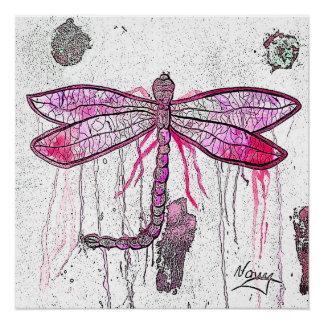 Poster Affiche de libellule