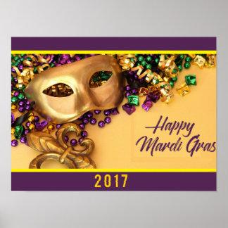 Poster affiche de mardi gras la Nouvelle-Orléans 2017