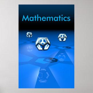 Poster Affiche de mathématiques
