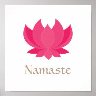 Poster Affiche de méditation de fleur de Lotus