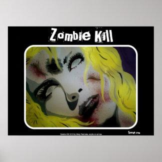 """Poster Affiche """"de mise à mort de zombi"""""""