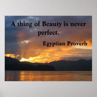 Poster Affiche de motivation avec le proverbe égyptien
