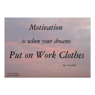 POSTER AFFICHE DE MOTIVATION-BEN FRANKLIN