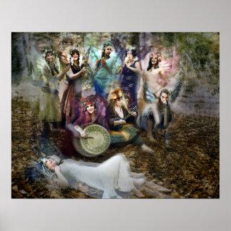 Poster Affiche de musiciens de féerie par Cheryl juste