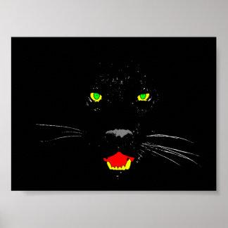Poster Affiche de panthère noire