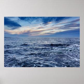 Poster Affiche de paysage marin du Maine de parc national