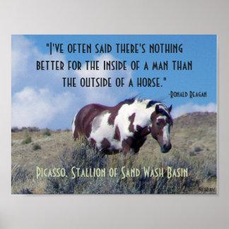 Poster Affiche de Picasso avec la citation de Reagan