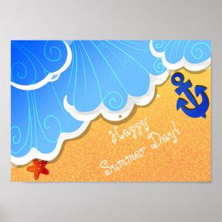 Poster Affiche de plage d'été