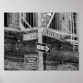 Poster Affiche de plaques de rue de New York City