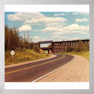 Poster Affiche de pont en chemin de fer