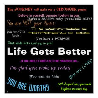 Poster Affiche de positivité