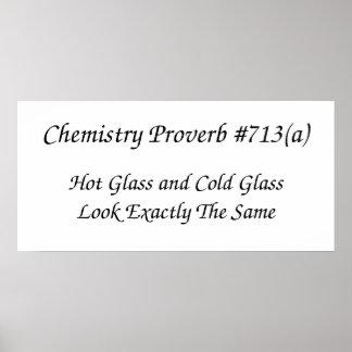 Poster Affiche de proverbe de chimie