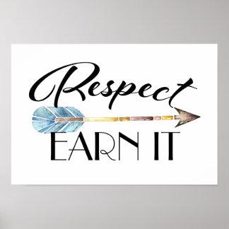 Poster Affiche de respect