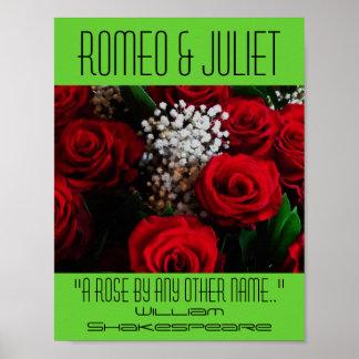 Poster Affiche de Romeo et de Juliet un festival de Shake