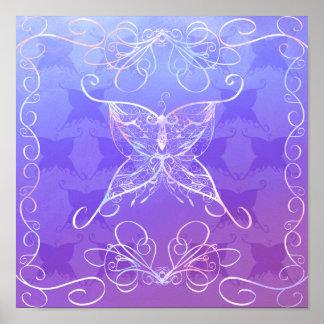 Poster Affiche de ruban de papillon