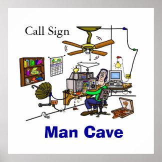 Poster Affiche de Shack de caverne d'homme de
