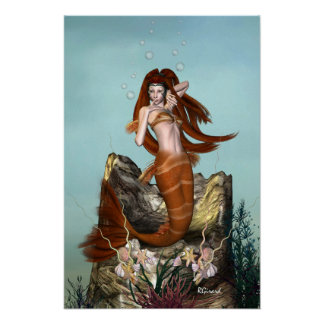 Poster Affiche de sirène