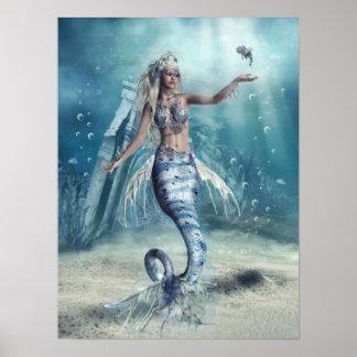Poster Affiche de sirène d'imaginaire