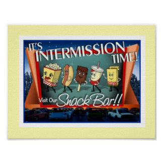 Poster Affiche de snack-bar d'interruption
