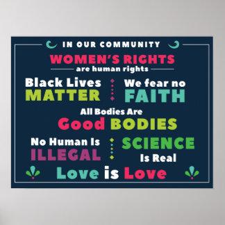 Poster Affiche de solidarité dans notre Communauté