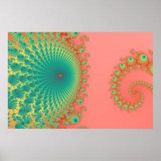 Poster Affiche de Spirole d'arc-en-ciel