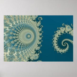 Poster Affiche de Spirole de bord de la mer