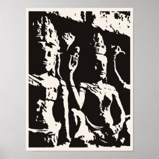 Poster Affiche de statue indoue