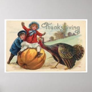 Poster Affiche de thanksgiving