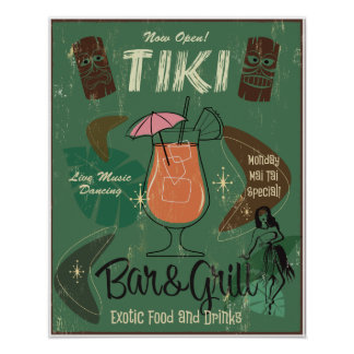 Poster Affiche de Tiki Bar&Grill